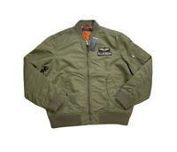 Polo Ralph Lauren MA-1 Military Flight Bomber Jacket Green New W/Tags Men's M