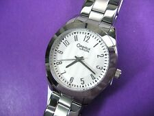 BULOVA CARAVELLE 43L145 LADIES CASUAL WATCH S/S WHITE TEXTURE DIAL ANALOG/MODERN