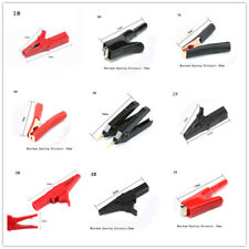 Crocodile Alligator Test Clamp Red Black For Car Battery Clip Various Types TS