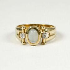 Anelli di lusso oro gialli cabochon diamante