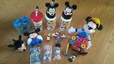 Lot of Disney Mickey Mouse Goofy Toys Souvenir Cup Hammer Answer Bathroom Set