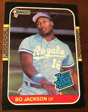 BO JACKSON 1987 DONRUSS RATED ROOKIE #35 K.C. ROYALS BASEBALL Card