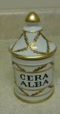 Vintage French Pharmacy Apothecary Jar Cera Alba Beeswax Henri Bendel