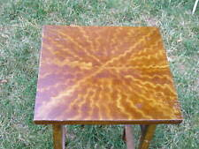 Amazing Simple Old Art Crafts Faux Grain Painted Primitive Table marked 85 cents