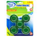 House Care Green Toilet Bowl Blocks Clean & Fresh, 5 Ct.