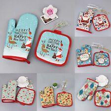 New listing 2Pcs/set Anti-Hot Gloves Pad Oven Christmas Decoration Baking Kitchen Tools -~
