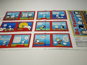 Tips From The Gang Panel 23x42 Peanuts QT Charlie Brown Snoopy Blocks