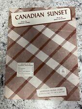 CANADIAN SUNSET 1956 Norman Gimbel Eddie Heywood Piano Guitar Lyrics