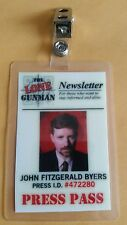 X-files TV Series ID Badge-The Lone Gunman John F Byers costume prop cosplay