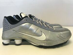 Mens Size 14 Nike Shox R4 FW LE Flywire Metallic Silver/White-Black 386154 002