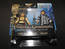 PIRATES of the CARIBBEAN YOUNG JACK and SALAZAR 2 MINIMATES FIGURES NEW SEALED