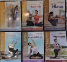 6 Stott Pilates workout exercise fitness DVD lot basic revive sunrise firm fit