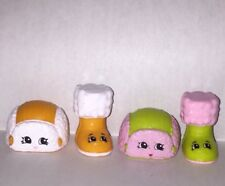 Shopkins Season 3 Flappy Cap Hats Snug Ugg Boots Shoes Set Lot of 2 4