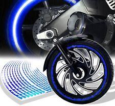 "Bright Blue Frame/Fire 16/17/18"" Reflective Rim Tape/Wheel Trim Stripes Sticker"