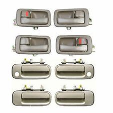 For 92-96 Toyota Camry DS45 4 Brown Inside & 4 Beige 4M9 Outside Door Handle