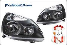 COPPIA FANALE FARO ANTERIORE DX/SX BLACK RENAULT CLIO 05/2001-.> LAMPADE OMAGGIO
