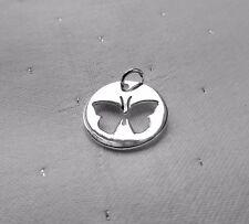 Farfalla in Disco Ciondolo Argento Sterling 925