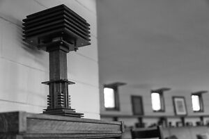 Prairie Style Mission Oak Table Lamp - Mid Century Modern Lamp