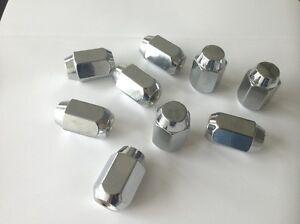 LUG NUTS ACORN 12x1.25 CHROME 24 PIECES 21mm 13/16 HEX