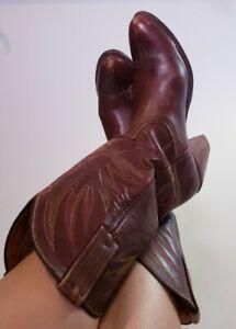 Frye Women's Vintage # 8818 Cowboy Cognac Leather Western Boots! Size 9.5 B