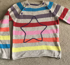 Boden Girls Jumper Age 9-10 , Cotton Cashmere Knitted, Striped