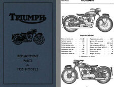 Triumph Replacement Parts for 1950 Models Thunderbird, 3T De Luxe, Speed Twin, T