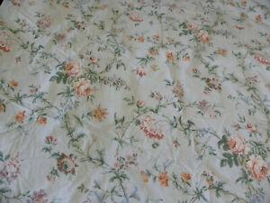 Lauren Ralph Lauren Toulouse Floral Queen Flat Sheet Vine Botanical Damage