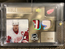 2005-06 UD The Cup Noble Numbers Steve Yzerman/Mario Lemieux Game Used Patch /10