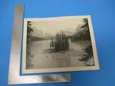 Vintage Photograph Original, Canadian Rockies  B/W Nice!  M362