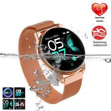 Wasserdicht Damen Smartwatch Fitness Armband Uhr Smart Bracelet Tracker IP68