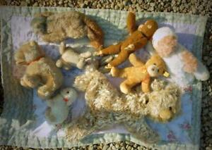 COLLECTION OF OLD GERMAN ANIMALS, BEARS, SOME ARE STEIFF.  no reserve auction