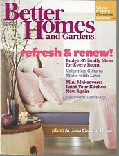 Better Homes and Gardens February 2012 Artisan Pizza At Home/Valentine Gifts