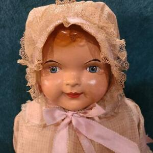 """24"""" AM DOLL CO Compo Doll Excelsior Stuffing Orig. Clothing BEAUTIFUL CONDITION!"""