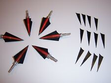 6 New Vintage Satelite Aero 4 Blade 130 Grain Broadheads Archery Arrows Hunting