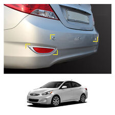 Chrome Rear Set Molding Trim for Hyundai Accent 4-Door 2012-2016 (Fits: Hyundai Accent)