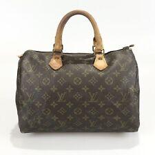 100% authentic Louis Vuitton M41526 Speedy 30 monogram handbags used 177-11-zb
