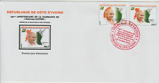 2019 Joint Issue Mohandas Mahatma Gandhi 150 year Ivory Coast Côte d'Ivoire FDC