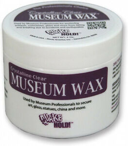 (1 Unit) - Quakehold! 66111 Museum Wax, Clear. Shipping is Free