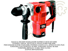 Black&decker Perceuse Perforateur KD1250K 1250 W Double Poignée