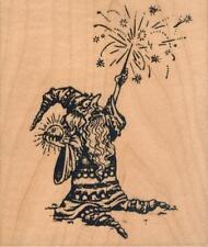 Motivstempel rubber stamp original Visual 1994  VIP grosser Wizard Zauberer