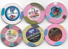 New Listing6 Different $2.50 Casino Chips (Snappers)-From Various Casinos-Lot 4