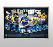 NATHAN HINDMARSH SIGNED 300 GAMES OFFICIAL LIMITED EDITION PRINT FRAMED + COA