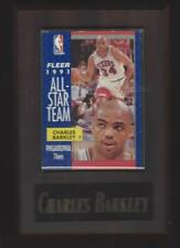 1991-92 Fleer Basketball #213 Charles Barkley Basketball Plaque