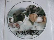 1 autocollant - motif   chien  POINTER