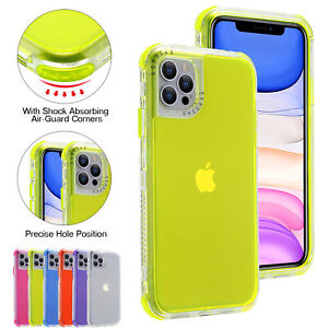 For iPhone 13 12 Pro Max Mini 11 XS XR 8 7 Clear Hybrid Shockproof Defender Case