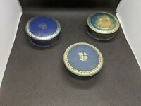 3 VTG ART DECO Value Royal ROYTYPE TYPEWRITER RIBBON TINS Sewing LOT