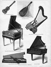 MUSIK*BERÜHMTE MUSIK-INSTRUMENTE (1)*1894*