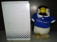 Corporate Synergies Stuffed Penguin Animal With Blue Polo Shirt and Box