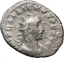 GALLIENUS son  of Valerian I Ancient Silver Roman Coin NIKE VICTORY Cult  i21584