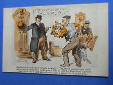 Vintage Comic Postcard 1900s Penny Arcade Punch Ball Allwin AMUSEMENT ARCADE
